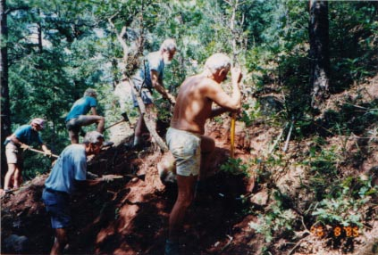 Building a Section 16 reroute to follow an intermittent stream- 1995