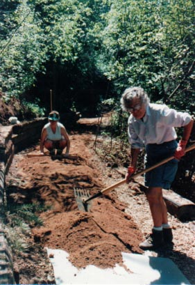 Building Iron Spring Trailhead, 1991